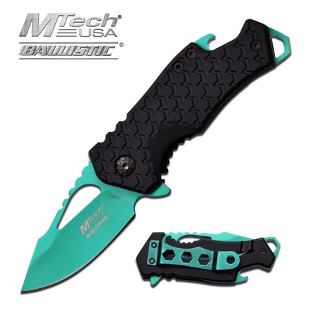 MTECH USA Assisted Opening Stainless Steel Bottle Opener Knife ()
