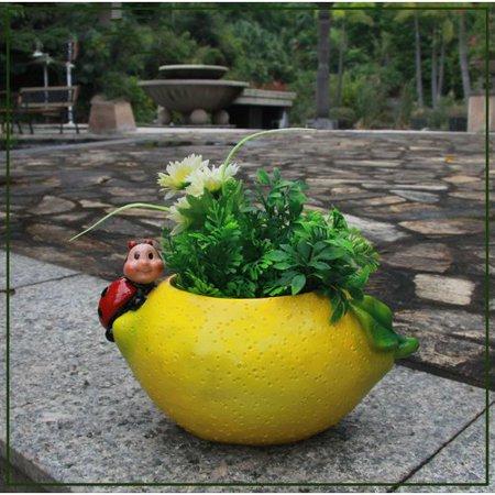 (Sintechno Lemon Resin Statue Planter)