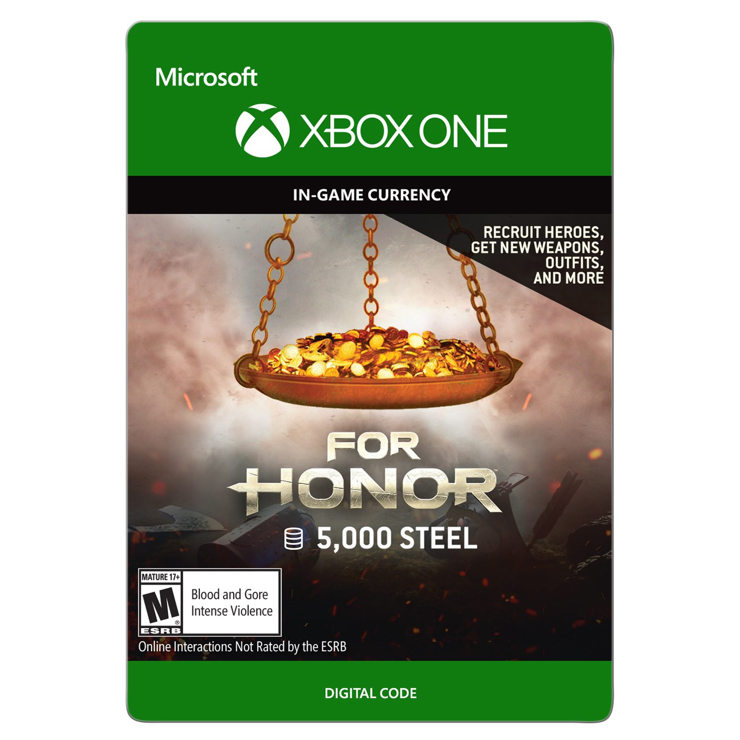 Xbox One For Honor Currency pack 65000 Steel credits (email delivery)