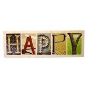 Language Art Wood ''HAPPY'' Letter Block