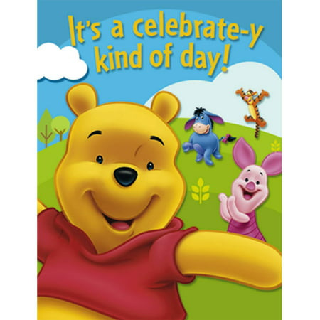 Winnie the Pooh Invitations 8ct By Factory Card and Party Outlet](Winnie The Pooh Invitations)