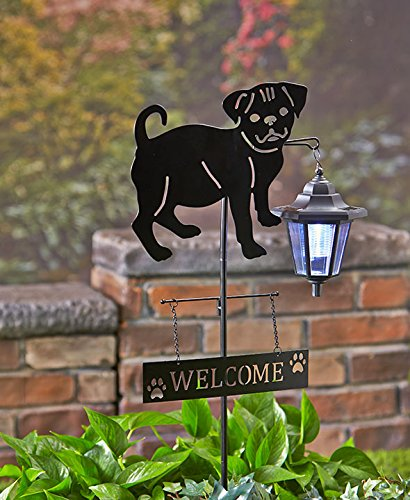 Solar Dog Breed Lantern Stake Pug