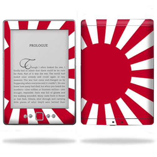 "Mightyskins Protective Vinyl Skin Decal Cover for Amazon Kindle 4 four Wi-Fi, 6"" inch E Ink Display Tablet wrap sticker skins Rising Sun"