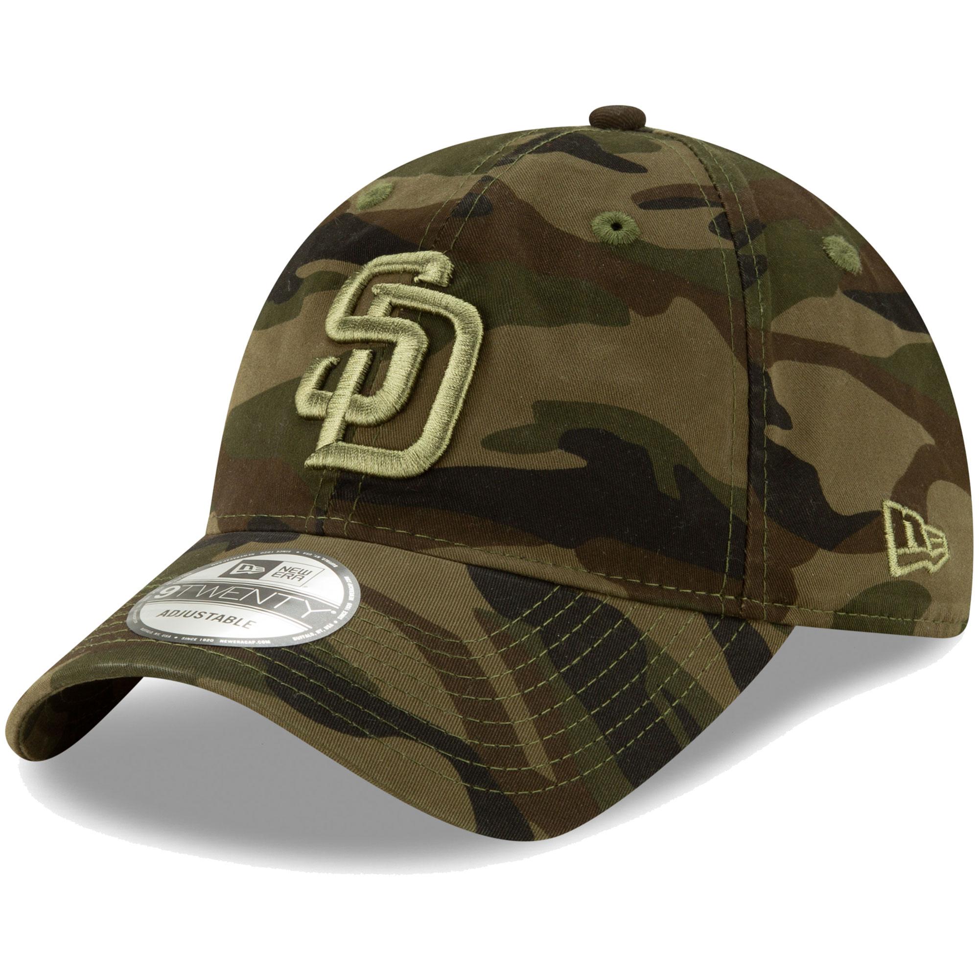 San Diego Padres New Era Tonal Camo Core Classic 9TWENTY Adjustable Hat - Camo - OSFA
