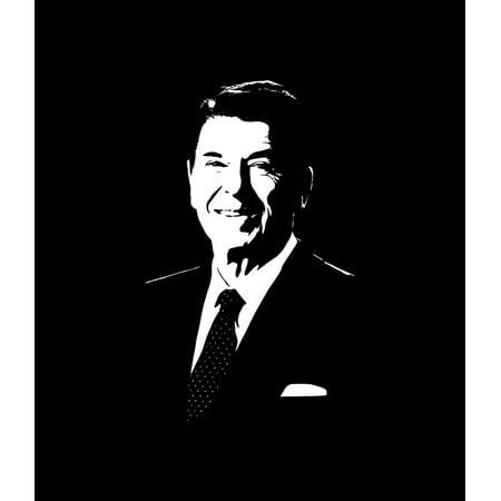 (Vector portrait of President Ronald Reagan Poster Print)