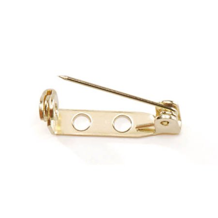 Brass Plated Pin Back: 3/4 inch