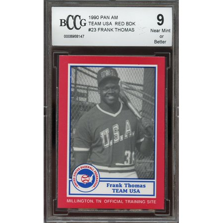 1990 pan am team usa red back #23 FRANK THOMAS white sox rookie card BGS BCCG 9 ()