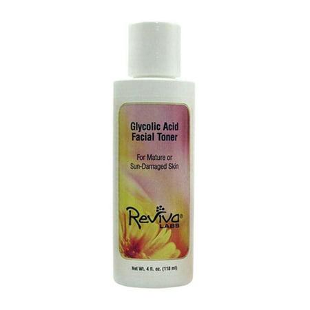 Reviva Labs Acide Glycolique de tonifiante pour mature et endommagée par le soleil de la peau - 4 Oz