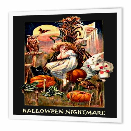 3dRose Vintage Halloween Nightmare, Iron On Heat Transfer, 8 by 8-inch, For White Material