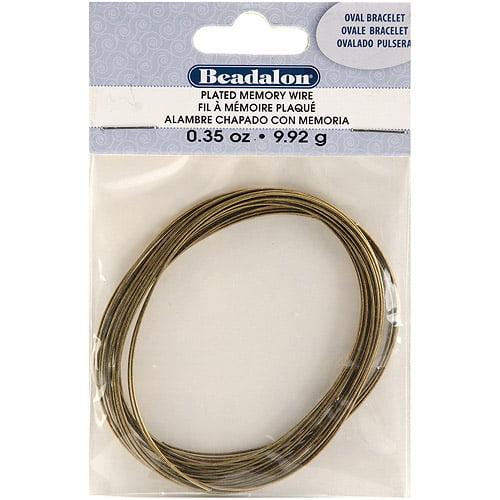 Beadalon Memory Wire Oval Bracelet, 0.35oz