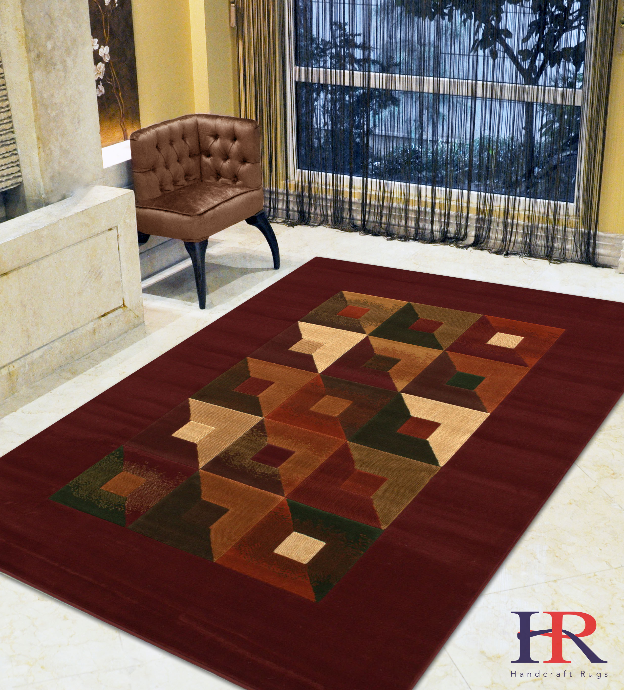 Handcraft Rugs Beige, Chocolate, Brown, Modern Rectangular Geometric Pattern Area Rug... by Doormats