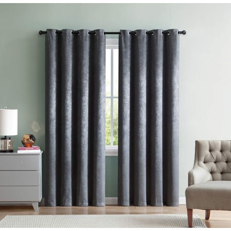 Mainstays Woven Sheen Blackout Curtain Panel, Single