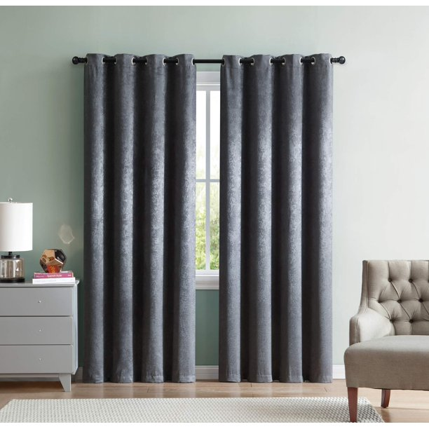 Mainstays Woven Sheen Blackout Curtain Panel, Single Panel