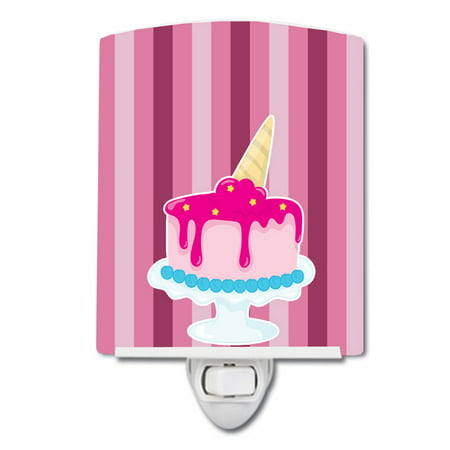 Ice Cream Cone Cake Ceramic Night Light (Halloween Ice Cream Cone Cakes)
