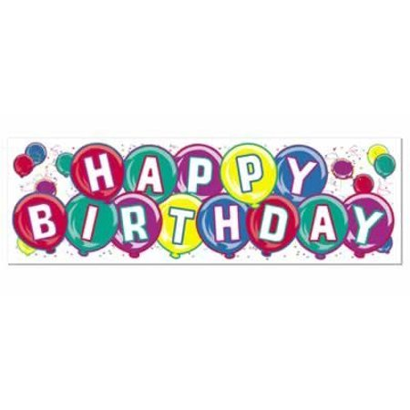 Happy Birthday Sign Banner Party Accessory (1 count) (1/Pkg) - Happy Birthday Sig