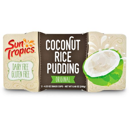 SunTropics Coconut Rice Pudding Snack | Gluten Free, Dairy Free, Vegan, Low Sugar, Non-GMO, Ready-to-Eat | Original, 8.46oz, 1 Pack (Diary Free Snacks)