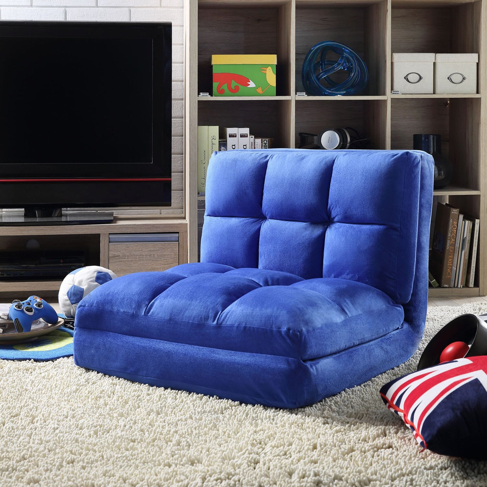 Loungie Microsuede Modern Flip Convertible Chair