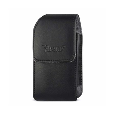 Leather Treo Smartphone - VERTICAL LEATHER POUCH WITH BELT CLIP TREO 650 WITH MEGNETIC AND BELT CLIP IN BLACK (4.4X2.3X0.9 INCHES)
