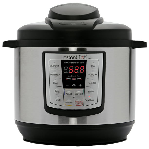 Instant Pot LUX60 V3 6-Quart 6-in-1 Multi-Use Programmable Pressure Cooker, Slow Cooker, Rice Cooker, Sauté, Steamer, and Warmer