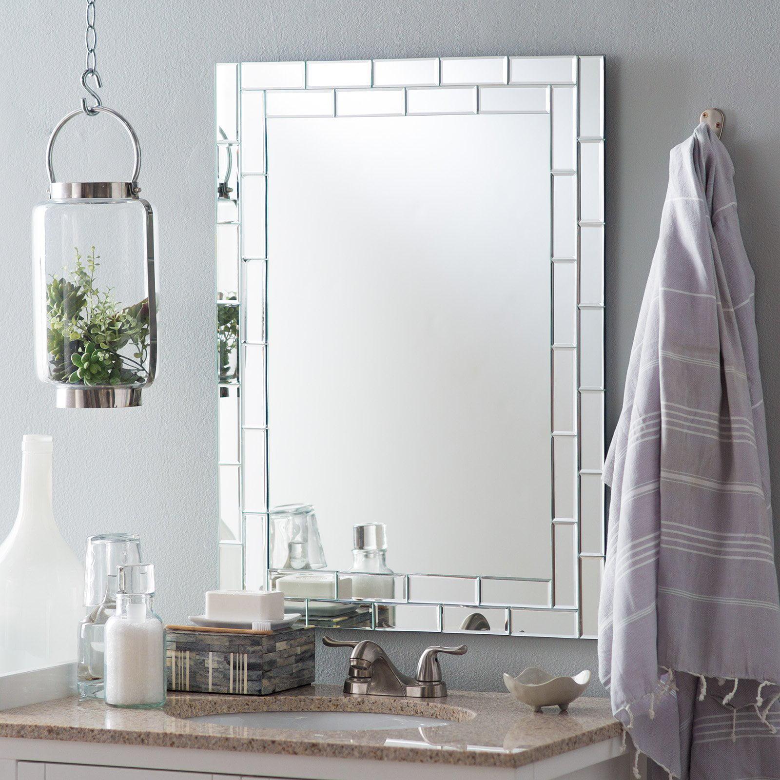 Decor Wonderland Grand Street Modern Bathroom Mirror 23.6W x 31.5H in. by