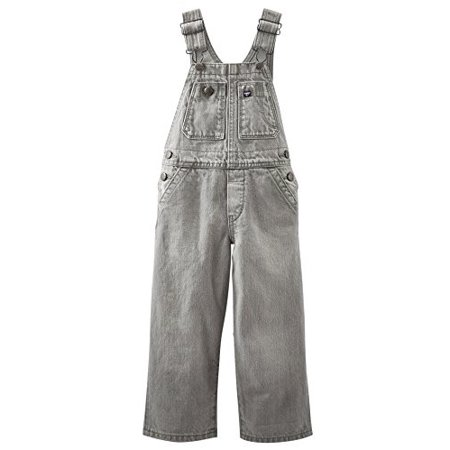OshKosh B'gosh Baby Boys' Denim Overalls - Faded Grey Wash - 6 Months - Chucky Overalls For Toddlers