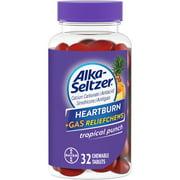 Alka-Seltzer Heartburn + Gas Relief Chews Tropical Punch, 32 Count