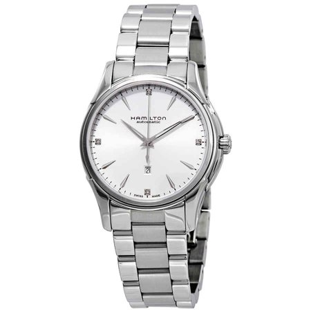Hamilton Jazzmaster Automatic Diamond Silver Dial Ladies Watch (Hamilton Women Watches)
