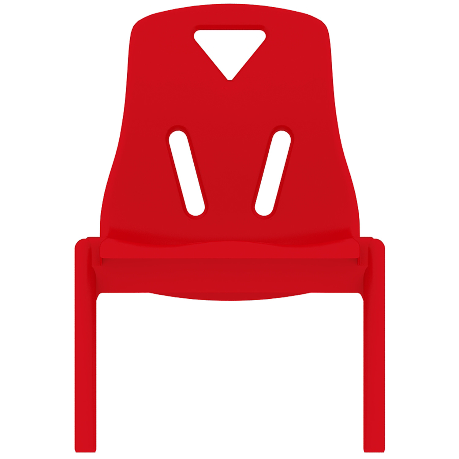 "2xhome - Red - 10"" Seat Height Modern Kids Plastic Stacking School Chairs Activity"