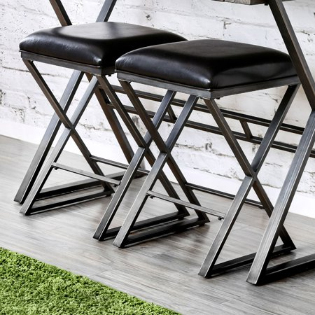 Phenomenal Furniture Of America Milton Industrial Bar Stool Black Ncnpc Chair Design For Home Ncnpcorg