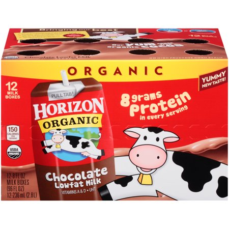 Horizon Organic 1% Lowfat Chocolate Milk, 8 fl oz, 12 count