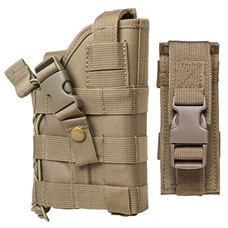 TAN MOLLE Compatible Holster With FREE Magazine Carrier Pouch / The Holster Fits Kimber Desert Warrior SOC MATCH II Custom TLE II Eclipse Target Ultra Raptor II.., By m1surplus from
