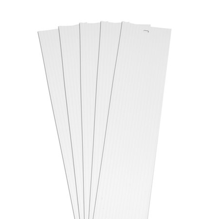 DALIX Ribbed Vertical Blinds Replacement Slats White Vinyl 82.5