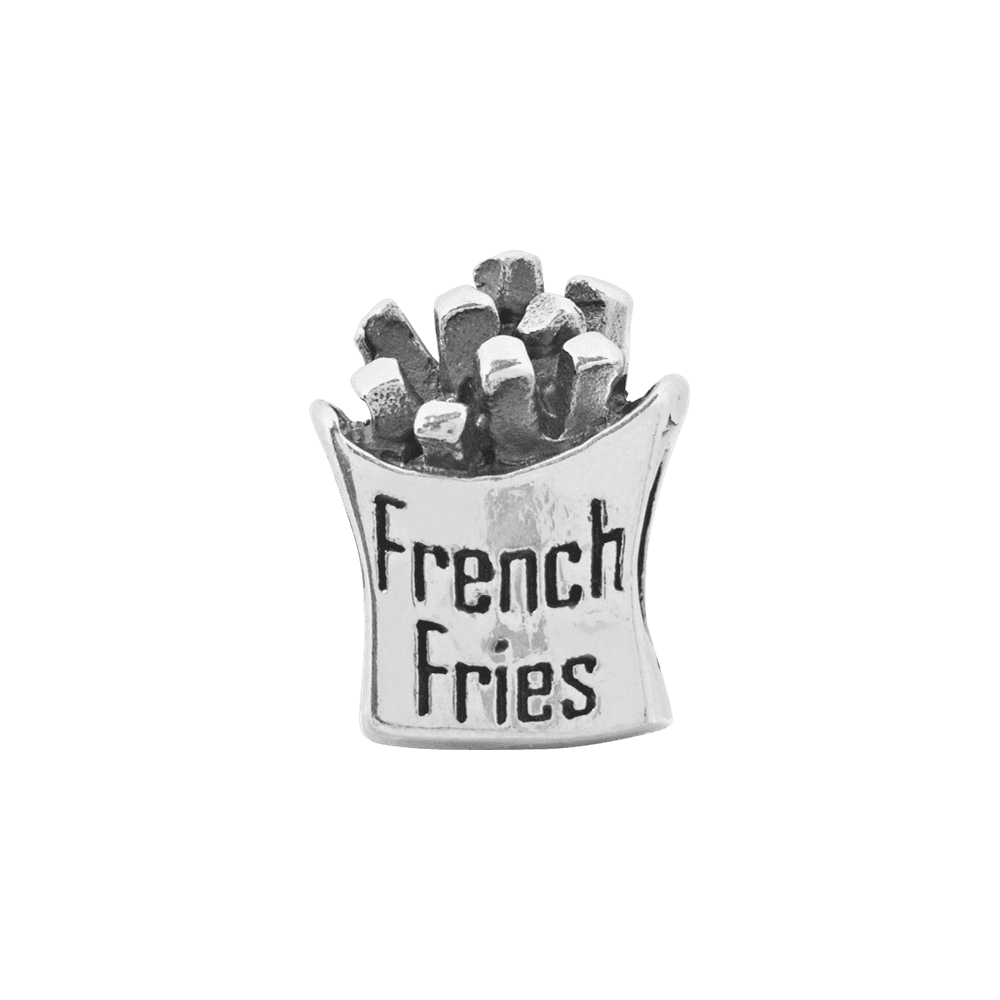 Sterling Silver Jewelry Themed Beads Solid 7.27 mm 10.00 mm Reflections French Fries Bead