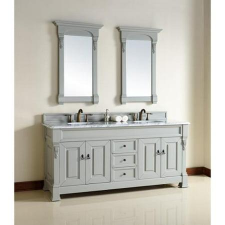 James Martin Furniture 72 Inch Grey Double Sink Vanity