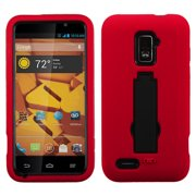 For N9510 Warp 4G Black/Red Symbiosis Cover +Kick Stand Protector Case