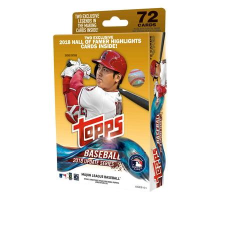 2018 Topps Updates Baseball Walmart Hanger Pack Trading Cards 1990 Topps Baseball Card