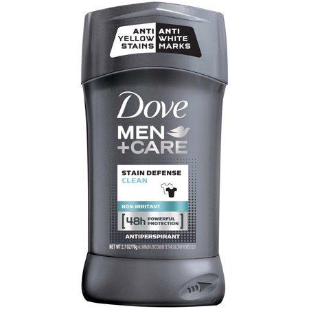 Dove Men+Care Stain Defense Clean Antiperspirant Deodorant Stick, 2.7 oz