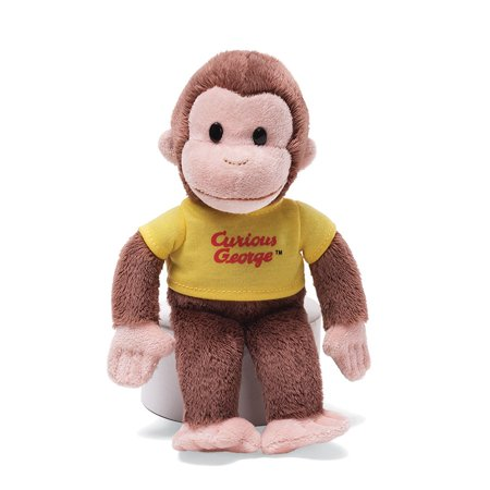 """Classic Curious George in Yellow Shirt 8"""" by, Curious George plush in a yellow shirt By GUND"""