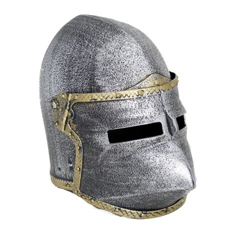 Child Medieval Crusader Knight Pig Face Helmet Joust Bassinet Costume - Knight Helmet Costume