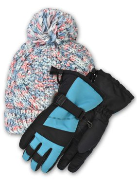Cold Front Accessories Speacedye Cuff Hat and The Serena Snowboard Gloves