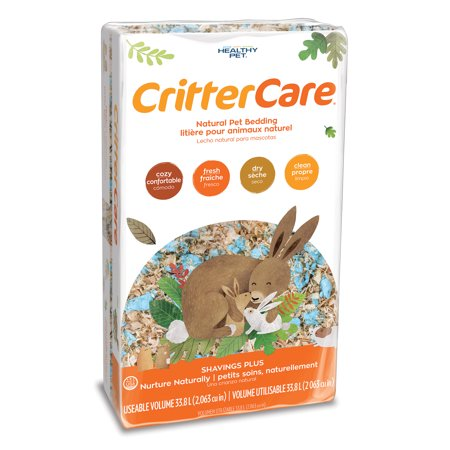 CritterCare Shavings Plus with Paper Small Pet Bedding, 33.8L