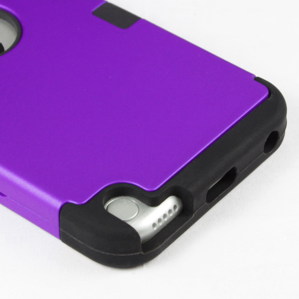 LIVEDITOR Heavy Duty Shock Proof Case Cover for Apple iPod Touch 6G 5th Generation(Purple) - image 5 of 6