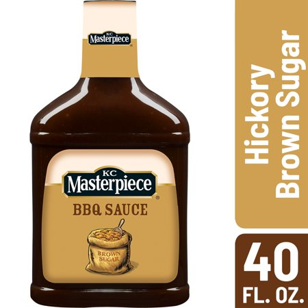 Kc Masterpiece Bbq Sauce ((2 Pack) KC Masterpiece Hickory Brown Sugar Barbecue Sauce, 40 oz )