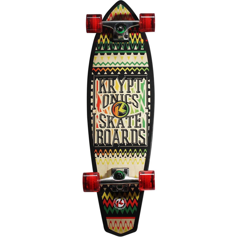 "Kryptonics  Mini Diamondtail Longboard Complete Skateboard, 32"" x 9"""