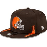 Cleveland Browns New Era Youth Sideline Home 9FIFTY Snapback Hat - Brown - OSFA