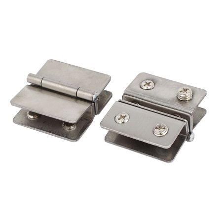 Bathroom Cabinet Door Glass To Glass Hinge Clamp Clips 2pcs For 5mm