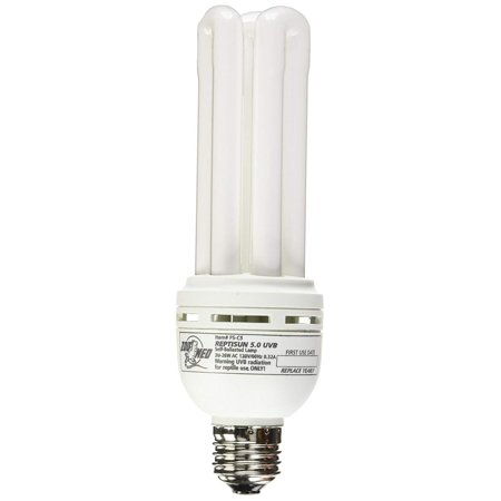 - ReptiSun 5.0 Compact Fluorescent Lamp, UVA and UVB with no heat By Zoo Med