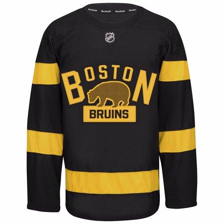Boston Bruins NHL Reebok Black 2016 Authentic On-Ice Edge 2.0 Jersey