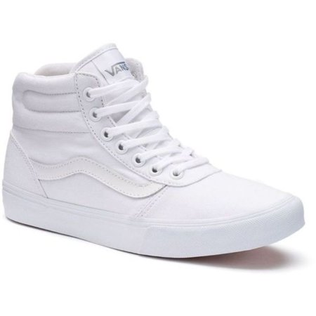 972ba9ecff679 Vans - (Size 9.5) Vans Milton High Top Canvas White White Women s Shoe -  Walmart.com
