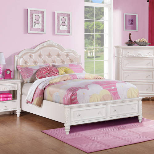 Coaster Company Caroline  Twin Storage bed, White Painted